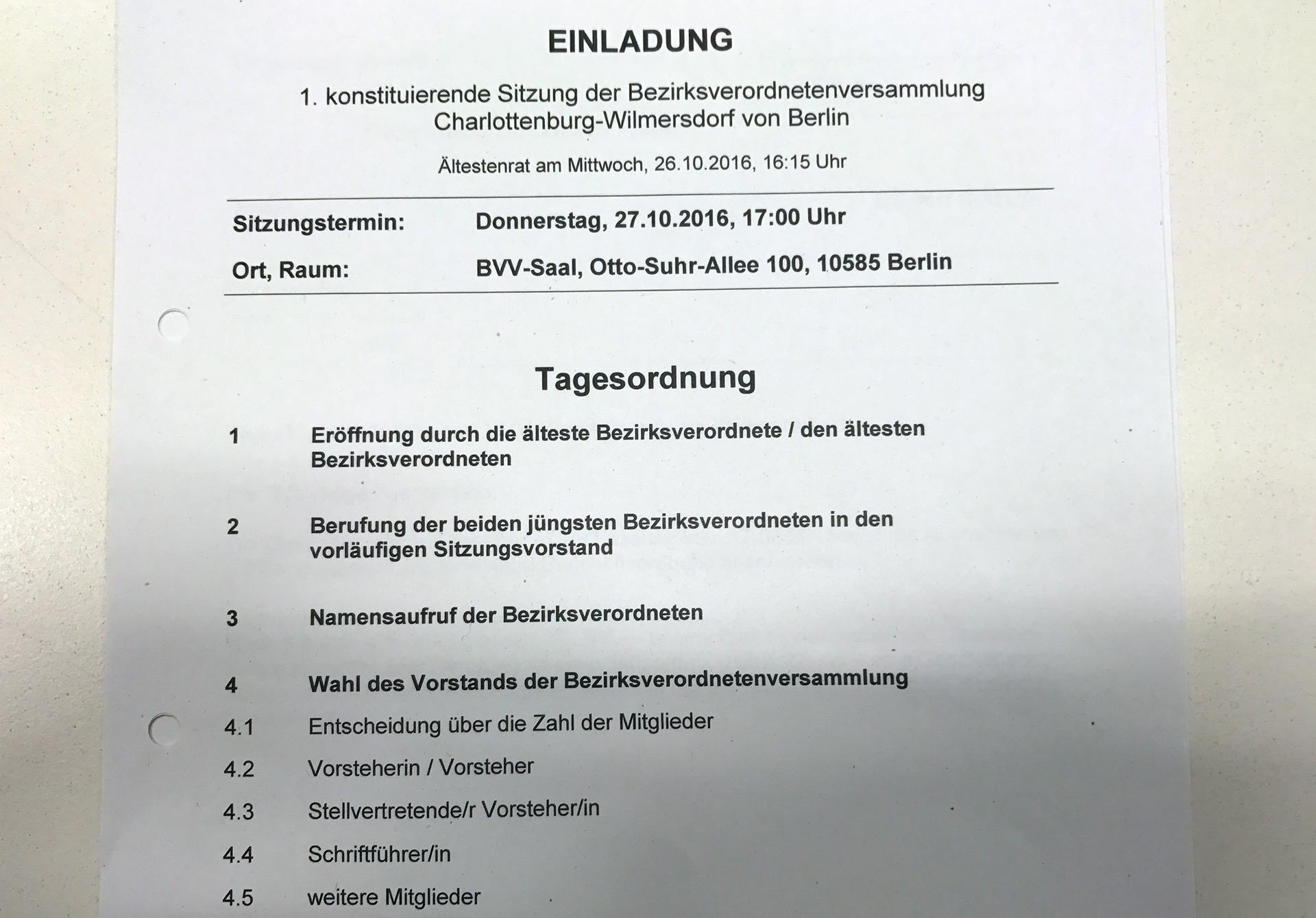 Tagesordnung BVV 10-2016